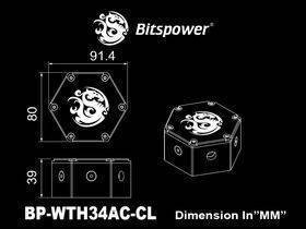 Bitspower Water Tank Hexagon 34 (Acrylic Version) - BP-WTH34AC-CL