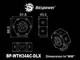 Bitspower Water Tank Hexagon 34 With Bracket (Deluxe Version)
