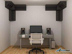 Arrowzoom Acoustic Panels Sound Absorption Studio Soundproof Foam - 4 pcs Corner Bass Trap Large Set