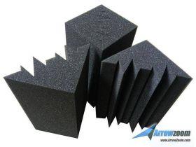 Arrowzoom Acoustic Panels Sound Absorption Studio Soundproof Foam - Bass Trap Mini - 12 X 12 X 24 cm