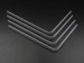 Bitspower Pre-bent 90-Degree acrylic Hard Tube OD12MM-Length 220x305MM - 4 pieces