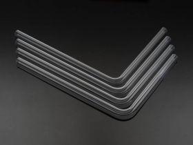 Bitspower Pre-bent 90-Degree acrylic Hard Tube OD16MM-Length 220x305MM