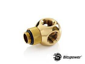 "Bitspower G1/4"" True Brass Q Plus-Rotary IG1/4""X4 Extender BP-TBFR-C"