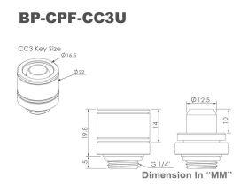 10MM (3/8 ID - 5/8 OD) Bitspower Schroeffitting - G1/4 (1 stuk) Silver Shiny BP-CPF-CC3U