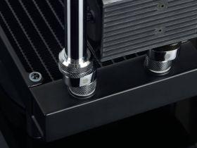 Bitspower X-cross fitting (Silver) - BP-RIGOS5