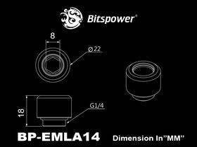 "Bitspower G1/4"" Silver Shining Advanced Multi-Link For OD 14MM - BP-EMLA14"
