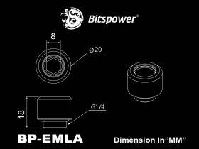 "Bitspower G1/4"" Silver Shining Advanced Multi-Link For OD 12MM - BP-EMLA12"