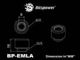 """Bitspower G1/4"""" Black Sparkle Advanced Multi-Link For OD 12MM - BP-BSEMLA12"""