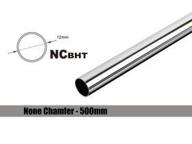 Bitspower None Chamfer Brass Hard Tubing OD12MM Shining Silver - Length 500 MM