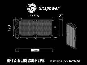 Bitspower Touchaqua radiator Tarasque 240 - BPTA-NLSS240-F2PB