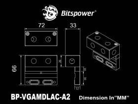 Bitspower VGA Multi Direction Link - Acrylic
