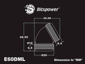 Bitspower True Brass Enhance 60-Degree Dual Multi-Link Adapter For OD 12MM - BP-TBE60DML