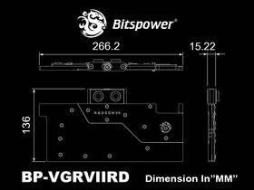 Bitspower Brizo VGA water block for AMD Radeon VII
