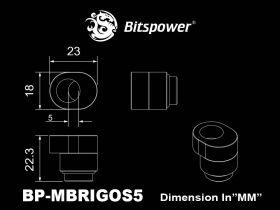 Bitspower X-cross fittings (Matt Black) - BP-MBRIGOS5