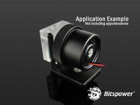 Bitspower D5 MOD Package (Clear Acrylic TOP S + MOD Kit V2 Matt Black)