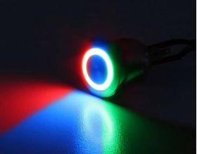 22MM Vandal Black / RGB LED Ring, Multi Color (controlled)
