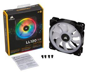 Corsair LL120 RGB 120mm Dual Light Loop RGB LED PWM Fan — Single Pack