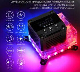 BarrowCH OLED CPU Waterblock, LRC 2.0 RGB, Integrated 17W PWM Pump - INTEL 115x