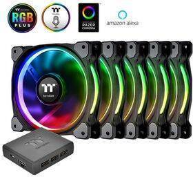 Thermaltake Riing Plus 120mm RGB LED Fan TT Premium Edition - 5 Fan Pack