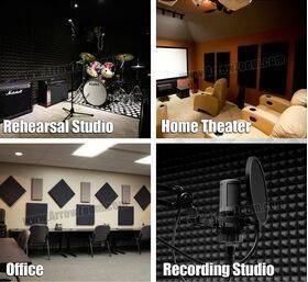 Arrowzoom Acoustic Panels Sound Absorption Studio Soundproof Foam - Wedge Tiles - 50 x 50 x 5 cm