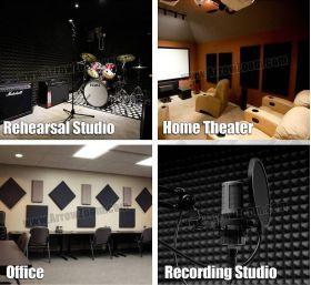 Arrowzoom Acoustic Panels Sound Absorption Studio Soundproof Foam - Bass Trap Mini Long - 12 X 12 X 48 cm