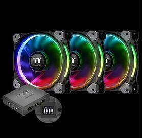 Thermaltake Riing Plus 14 RGB LED fan, 16.7 million colors - set of 3
