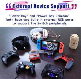 Brook Powerbay Portable and Fast Charging Stand, Docking for Switch, Compatible with Switch and GC Controllers, Support HDMI Output