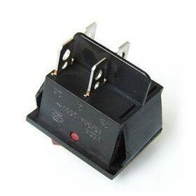 Snap in Rocker Power Switch/Button 4 Pin - ON/OFF (15A 30A 250V AC) - Red LED