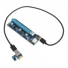 PCI-E 1x to 16x powered Riser Card Mining / Rendering Kit Pro - SATA/USB3.0 - 60cm