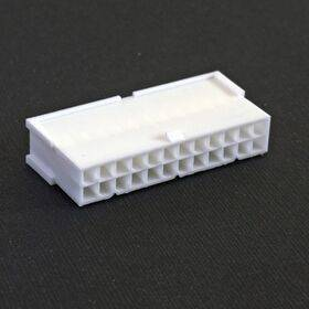 24-pin ATX Female connector housing, White