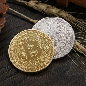 Bitcoin Gold or Silver Plated BTC Coin - Collectible