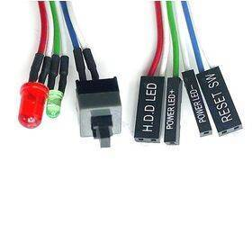 Power / Reset Switch cable with HDD LED and Power LED - 65cm