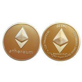 Ethereum Gold or Silver Plated ETH Coin - Collectible Gold