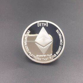 Ethereum Gold or Silver Plated ETH Coin - Collectible Silver