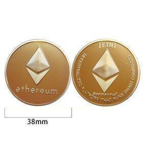 Ethereum Gold or Silver Plated ETH Coin - Collectible