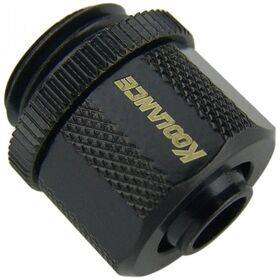 Koolance Compression Fitting for 06mm x 10mm (1/4in x 3/8in) *Black*, G 1/4 BSPP