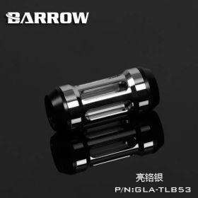 Barrow G1/4 Male Inline Composite Filter Quartz Glass  - Shiny Silver