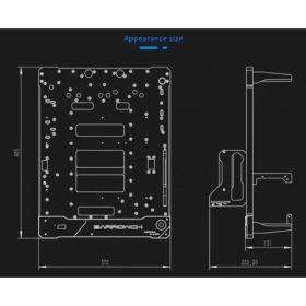 BarrowCH Rhopilema Series V2 Limited Edition Composite Channel Test Bench Case - Silver BAR-WW15