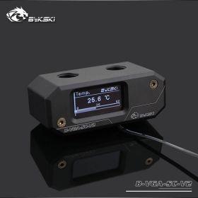 Bykski B-VGA-SC-V2 Digital GPU Temperature Meter with HD LCD Screen - Black