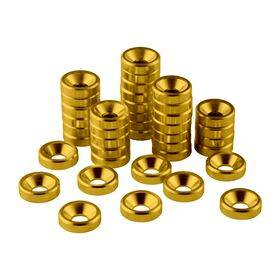 CableMod Anodized Aluminum Washers - 40 Pack Gold