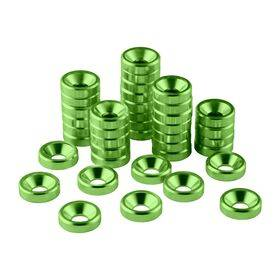 CableMod Anodized Aluminum Washers - 40 Pack Green