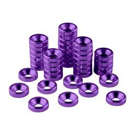 CableMod Anodized Aluminum Washers - 40 Pack Purple