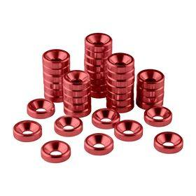 CableMod Anodized Aluminum Washers - 40 Pack Red