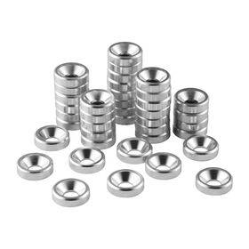 CableMod Anodized Aluminum Washers - 40 Pack Silver
