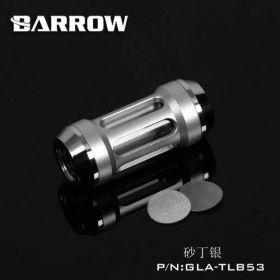 Barrow G1/4 Male Inline Composite Filter Quartz Glass - Silver + Shiny Silver