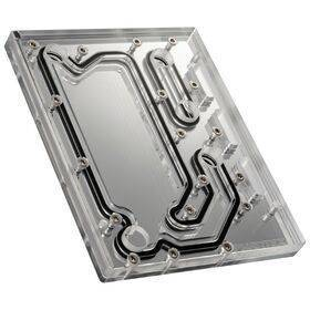 Phanteks Glacier D120 Distro Plate - Acrylic Mirror Backplate, ARGB / DRGB LED Strip