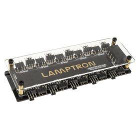 Lamptron LAMP-FARGB 10x Adressable / Digital RGB-Hub and 10x PWM Fan Hub