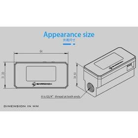 BarrowCH G1/4 Multimode OLED Display Heat Sensor Alarm with Intelligent Shutdown - Black