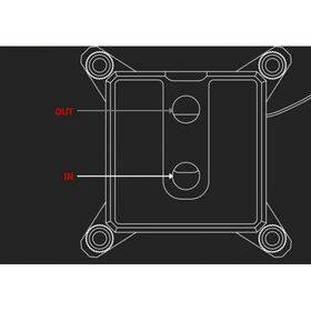 Barrow Composite Edition Micro Jet CPU Waterblock, LRC 2.0 RGB, INTEL 115x - Black