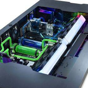 Lian Li DK-05F Electrical Height Adjustable Desk Case - Black Example Watercooling setup